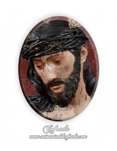 Azulejo ovalado 6x8 ctm del Cristo de la Salud y Buen Viaje de Sevilla