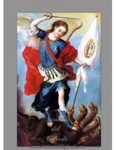 Precioso azulejo rectangular del Arcangel San Miguel