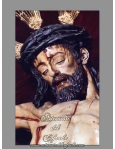 Azulejo rectangular del Cristo del Calvario de Sevilla