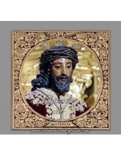 Azulejo cuadrado del Cristo de la Sentencia de Sevilla
