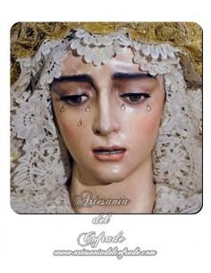 Imán cuadrado de plastico de la Virgen de la Salud de Sevilla