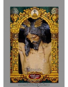 Azulejo rectangular del Cristo de las Aguas de Sevilla