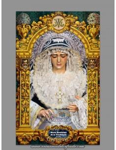 Azulejo rectangular de la Virgen de la Candelaria de Sevilla