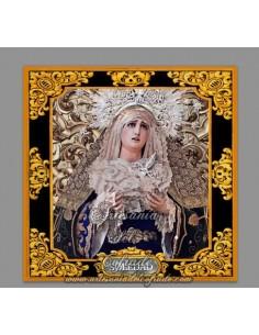 Azulejo cuadrado de la virgen de la Soledad de sevilla (San Buenaventura)