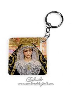 Llavero Cuadrado de la Virgen de la Soledad de Sevilla (Servitas)