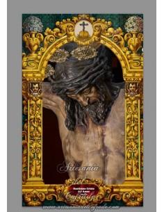 Azulejo rectangular del Cristo del Amor de Sevilla