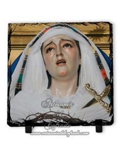Baldosa de pizarra cuadrada de Nuestra Señora de los Dolores (Santa Cruz,Sevilla)