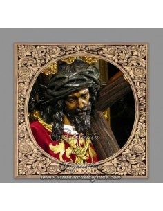 Precioso azulejo cuadrado del Cristo del Gran Poder de Madrid