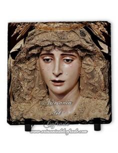 Baldosa de pizarra cuadrada de Nuestra Señora de los Dolores (El Cerro,Sevilla)