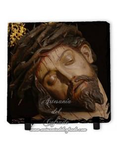 Baldosa de pizarra cuadrada del Cristo de la Salud (San Bernardo, Sevilla)