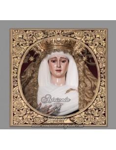 Azulejo cuadrado de la Virgen de la Palma de Sevilla