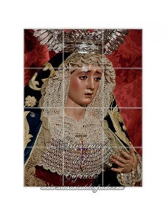 Retablo de 12 azulejos de la Virgen de Montserrat (Sevilla)