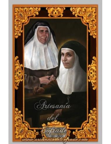 Azulejo  de Santa Angela de la Cruz y  María de la  Purísima