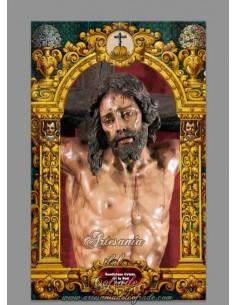 Bonito azulejo rectangular del Cristo de la Sed (Sevilla)