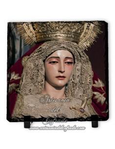 Baldosa de pizarra cuadrada de la virgen de la Merced de Sevilla