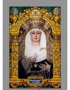 Azulejo rectangular de la Virgen de la Palma (Buen Fin de Sevilla)