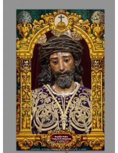 Azulejo rectangular del Cristo de la Sentencia de Sevilla