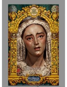 Azulejo rectangular con la Virgen de los Dolores y Misericordia de Sevilla