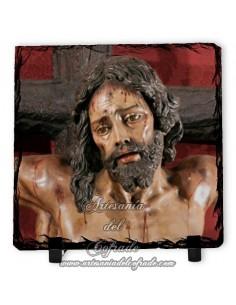 Baldosa de pizarra cuadrada del Cristo de la Sed de Sevilla