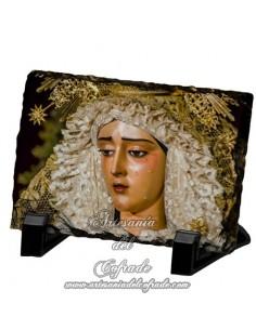 Pizarra rectangular de la Virgen de la Caridad de Sevilla
