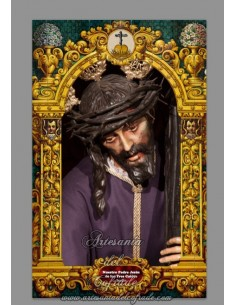 Azulejo rectangular del Cristo de las Tres Caidas de San Isidoro (Sevilla)