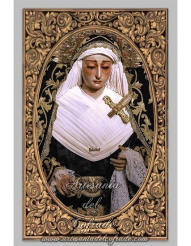 Azulejo  de la Virgen de la Soledad de San Lorenzo de Sevilla