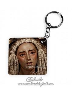 Llavero Cuadrado de la Virgen de los Dolores y Misericordia de Sevilla
