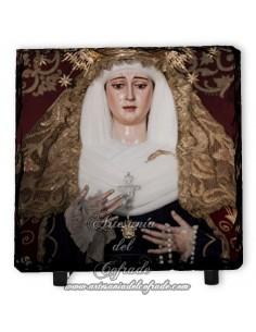 Baldosa de pizarra cuadrada de la virgen de la Palma de Sevilla