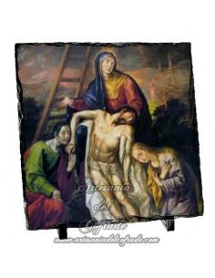 Baldosa de pizarra cuadrada de Jesús descendido de la Cruz