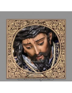 Azulejo cuadrado del Cristo de las Tres Caidas de Triana (Sevilla)
