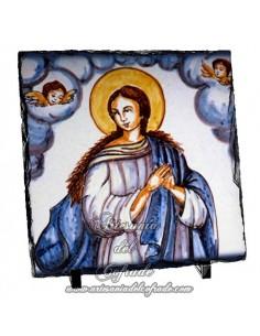 Pizarra cuadrada con virgen Inmaculada