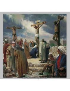 Azulejo cuadradao de la crucifixión de Jesús