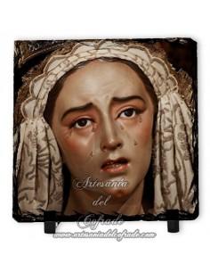 Baldosa de pizarra cuadrada de la Virgen de los Dolores y Misericordia de Sevilla