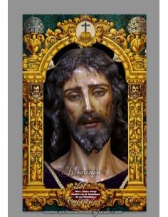 Azulejo rectangular de Ntro Padre Jesús Cautivo en el Abandono de sus Discípulos de Sevilla