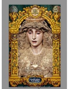 Azulejo rectangular de la Virgen de los Dolores de Sevilla (Cerro del Aguila)