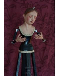Virgen Dolorosa de 70 ctm de candelero