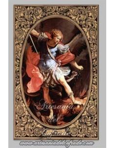 Azulejo rectangular del Arcangel San Miguel