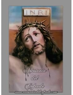 Azulejo rectangular de Cristo crucificado