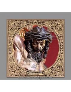 Azulejo cuadrado del Cristo de la Sangre de Sevilla