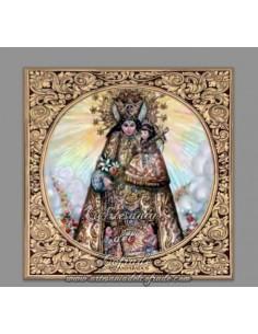 Azulejo cuadrado de la Virgen de los Desamparados