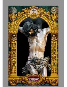 Azulejo rectangular del Cristo de la Buena Muerte de Cádiz