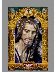 Azulejo rectangular de Jesús Nazareno del Paso de Malaga