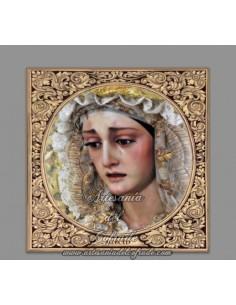 Azulejo cuadrado de la Virgen de la Merced de Cordoba