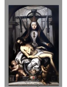 Azulejo rectangular de la Virgen de las Angustias