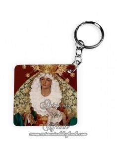 Llavero Cuadrado de la Virgen de la Esperanza de Cordoba