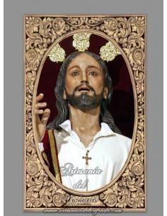 Azulejo rectangular del Cristo de la Borriquita de Cordoba