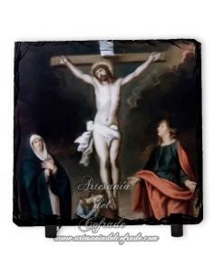 Baldosa de pizarra cuadrada del Calvario de Jesús