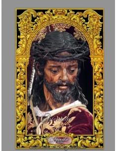 Azulejo rectangular con Nuestro Padre Jesús Nazareno de Sevilla