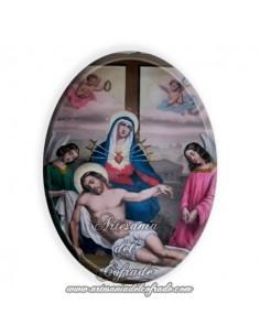 Azulejo ovalado 6x8 ctm de la Virgen de la Piedad