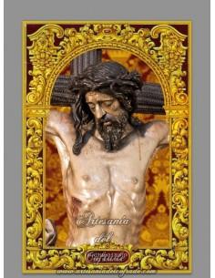 Azulejo rectangular del Stmo. Cristo del Buen Fin de Sevilla (Cofradia del Buen Fin)